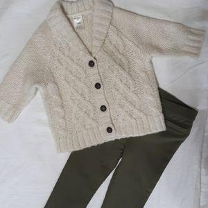 Like new OshKosh cream cardigan sweater